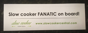 Sticker - SLOW COOKER FANATIC ON BOARD!