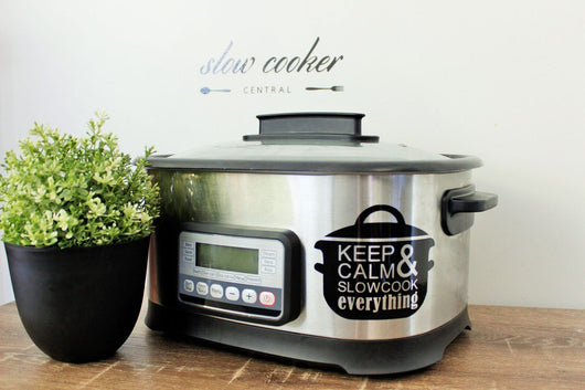 Slow Cooker Decal - Keep Calm Design
