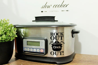 Slow Cooker Decal - Rock Out Design