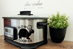 Slow Cooker Decal - Turtle Design