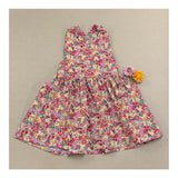 Sea Spray Pinafore in Festive Floral