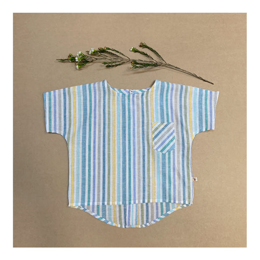 Parker Tunic Shirt in Beachy Stripe