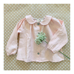 Millie Blouse in Blush Linen