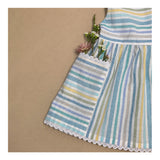 Sea Spray Pinafore in Beachy Stripe