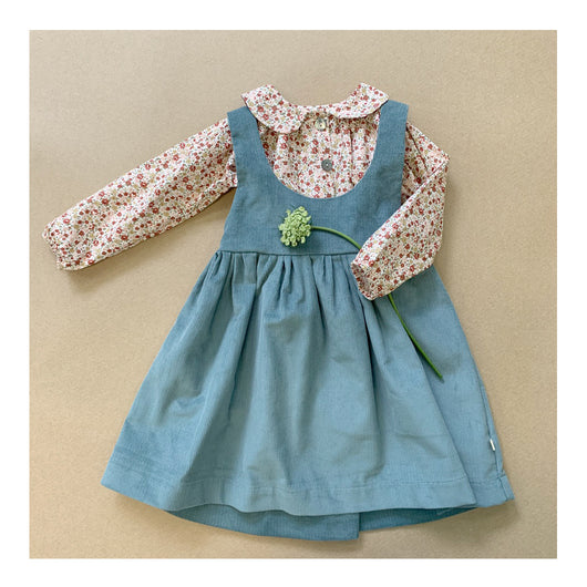 Peggy Pinafore Dress in Corduroy