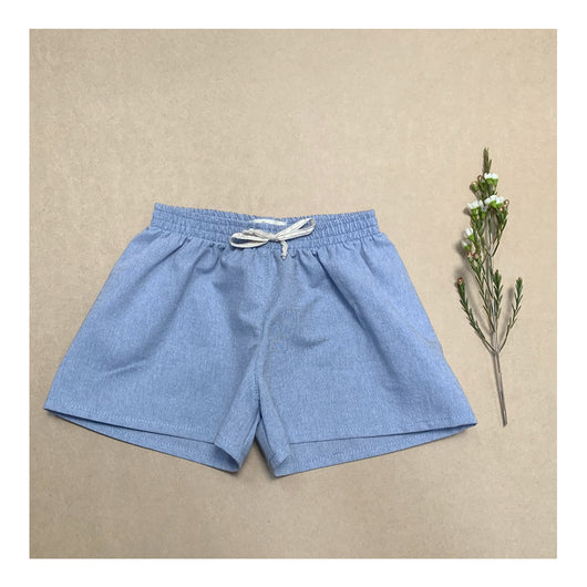 Beachside Shorts in Summer Sky