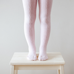 Lamington Merino Tights in Cherry Blossom