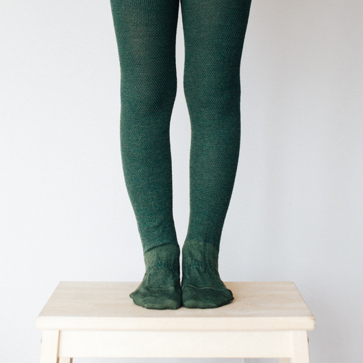 Lamington Merino Tights in Moss