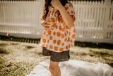 Orange Spot Blouse