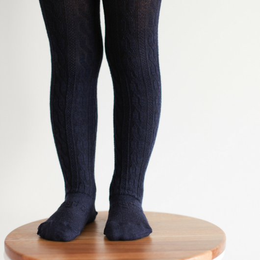 Lamington Merino Tights in Navy