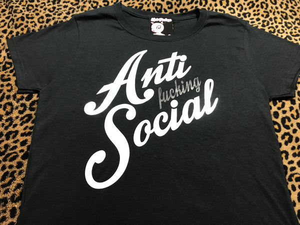 HOT PINKYS - ANTI FUCKIN' SOCIAL - LADIES T-SHIRT