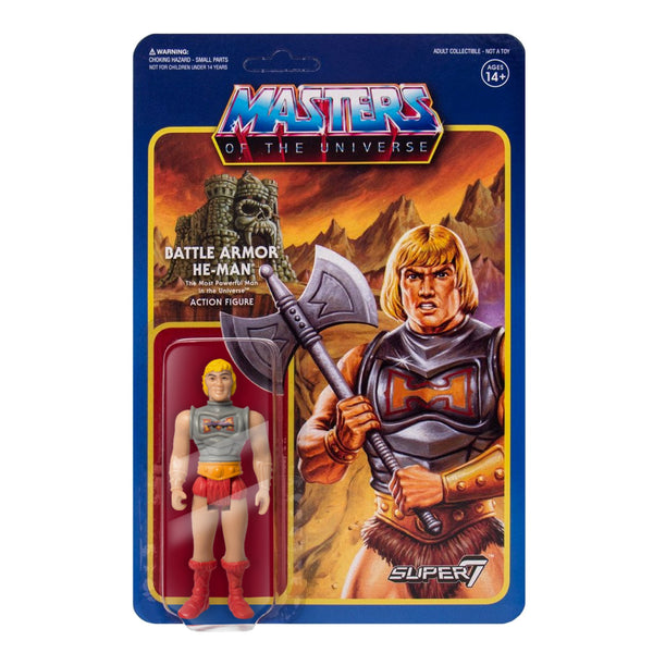 REACTION SUPER7 - Masters of the Universe Battle Armor (Battle Damaged) He-Man ReAction Figure