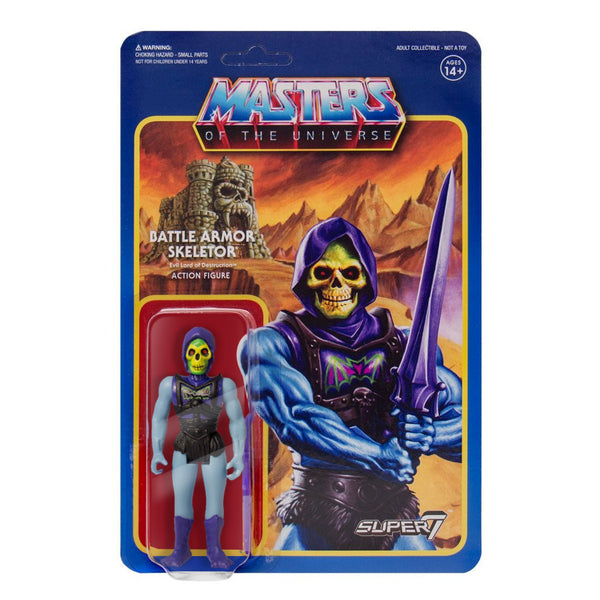 REACTION SUPER7 - Masters of the Universe Battle Armor (Battle Damaged) Skeletor ReAction Figure