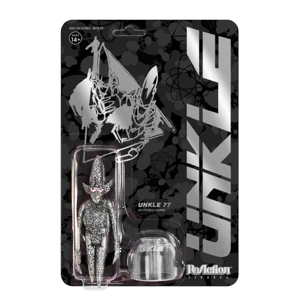 REACTION SUPER7 - UNKLE77 Silver Glitter Pointman  ReAction Figure