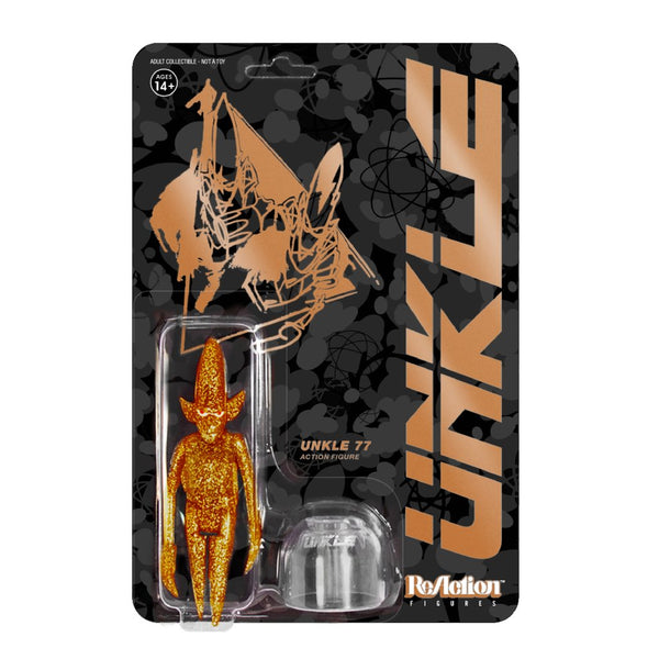 REACTION SUPER7 - UNKLE77 Copper Glitter Pointman  ReAction Figure