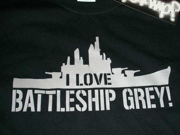 JDM-Style Clothing -  I LOVE BATTLESHIP GREY T-Shirt