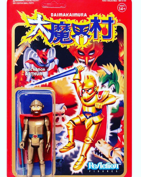 REACTION SUPER7 - Ghosts and Goblins Gold Arthur ReAction Figure