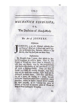 Mechanick Exercises: Or, The Doctrine Of Handy-Works by Joseph Moxon 1703