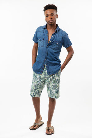 Denim Short Sleeve Woven Shirt