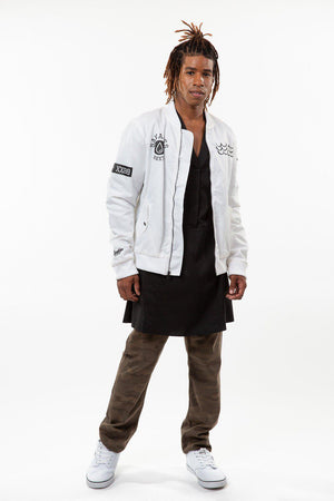 Breathe Carolina Savages White Bomber Jacket