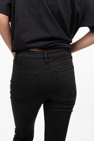 Wythe Ave. Black Tube Straight Jeans
