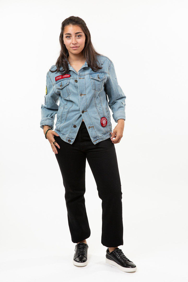 "Breathe Carolina ""Hold Your Breath"" Denim Jacket"