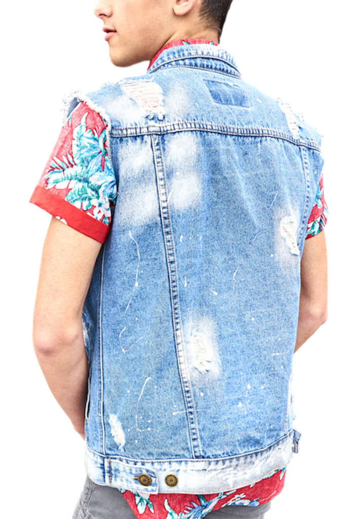 Destroyed Denim Vest-Shirts-Brooklyn Cloth-RIGit