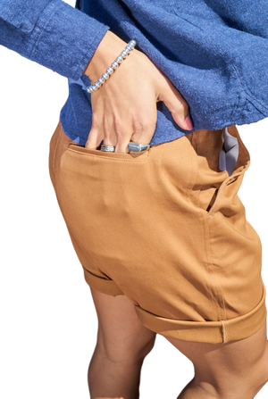 Flat Front Twill Shorts-Shorts-Brooklyn Cloth-RIGit