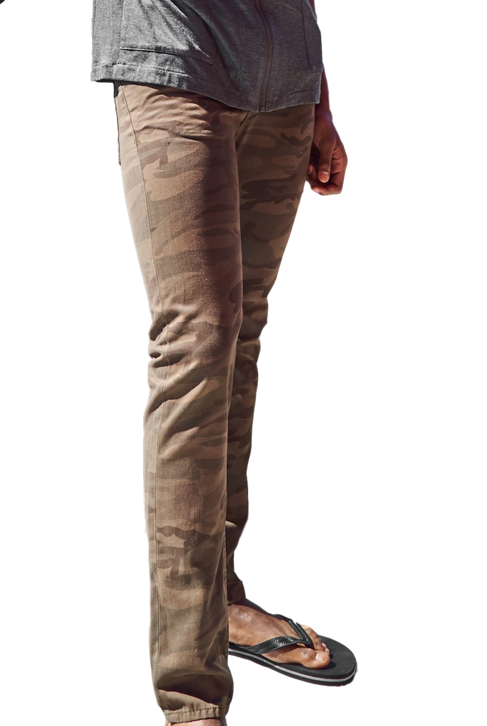 Military Green Slim Camouflage Pants – GRAND STREET-Jeans-Williamsburg Garment Company-RIGit