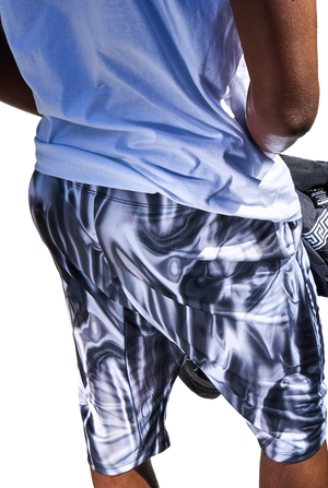 Mortals Liquid Silver Shorts-Shorts-We Are Mortals-RIGit