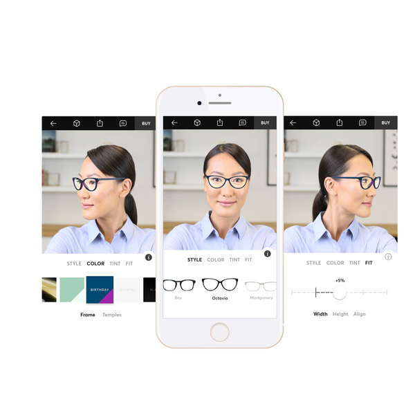 Size, Style and buy custom / bespoke glasses from the Topology Eyewear app.