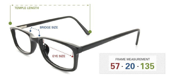 three measurements for glasses
