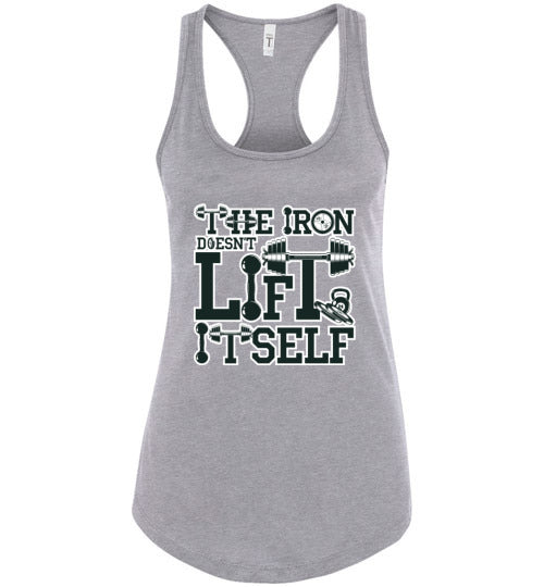 The Iron Racerback Ladies Tank Top - IMPOWER Apparel