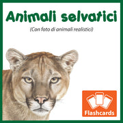 Wild Animals Flashcards x 30 - Full Set