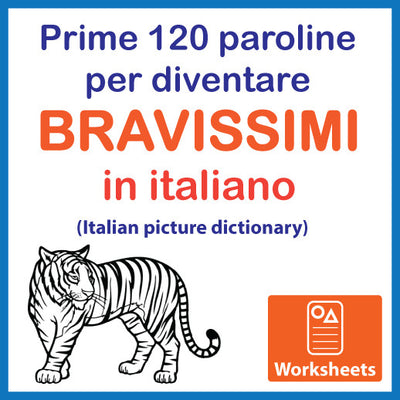 Italian Picture Dictionary - Colouring Worksheets