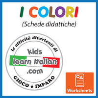I Colori - Italian Coloring Worksheets