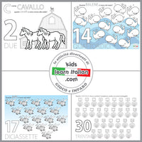 Italian Numbers - 31 Worksheet Set