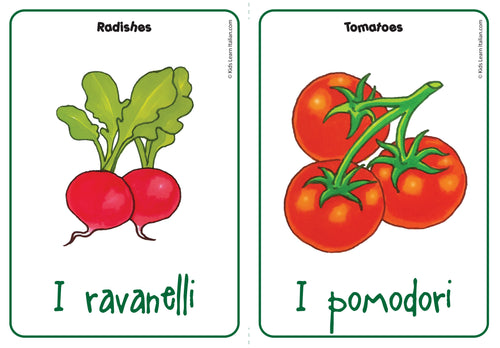 Le verdure / Vegetables Flashcard FREE