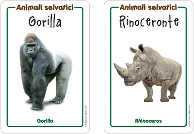 Wild Animals Flashcards x 2 - FREE