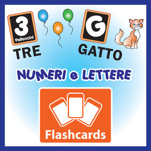 Letters & Numbers Flashcards x 36 - Full Set