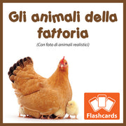 Farm Animals Flashcards x 26 - Full Set