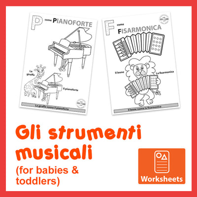 Animals & Instruments - Worksheets for Toddlers