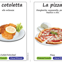 Lunch & Dinner Food Flashcards x 16 - Full Set