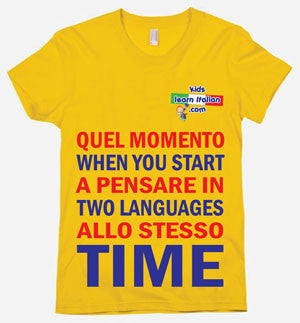 Two Languages T-Shirt Poster