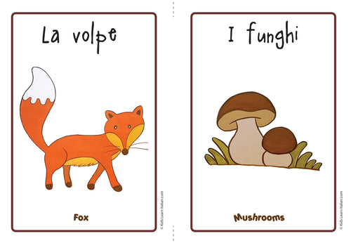 Autumn flashcards - Free