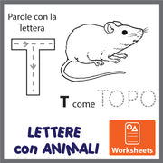Lettere con Animali - Worksheets