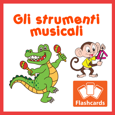 Animals & Instruments Flashcards x 8 - Full Set