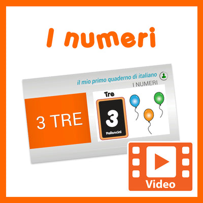 Italian Counting Numbers Video