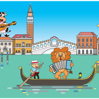 Animals in Venice Wall Mural