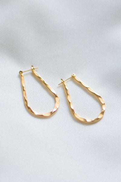 Scarlet Hammered Hoops